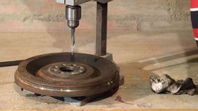 Using drill tool for drilling steel stock footage