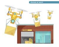 Using Drone Flat Illustration Royalty Free Stock Photo