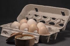 Product for Breakfast. Using eggs and salt, you can cook a good and tasty Breakfast Royalty Free Stock Image