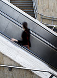 Using escalators Stock Image