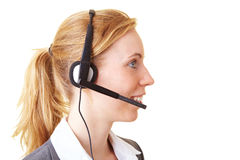 Using a headset Royalty Free Stock Photos