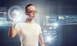 Using innovative technologies . Mixed media Stock Images