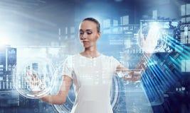Using innovative technologies . Mixed media Royalty Free Stock Photo