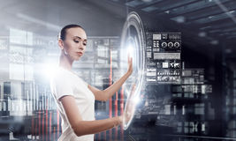 Using innovative technologies . Mixed media Royalty Free Stock Images