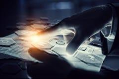 Using innovative technologies . Mixed media Stock Photography