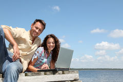 Using internet everywhere Stock Images