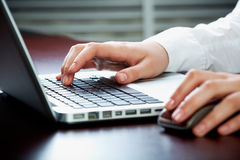 Using laptop Stock Image