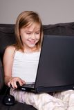 Using the Laptop Royalty Free Stock Images