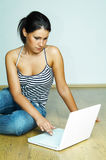 Using laptop computer Stock Photography