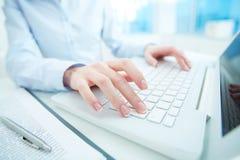 Using laptop Stock Photos