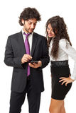 Using a mobile device Stock Photo
