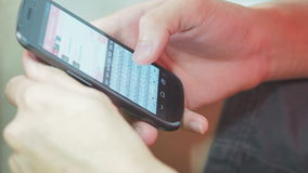 Using Mobile Phone stock footage