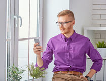 Using mobile phones Royalty Free Stock Image