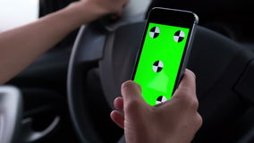 Using mobile phones while driving stock video