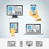 Using modern digital devices Royalty Free Stock Photos