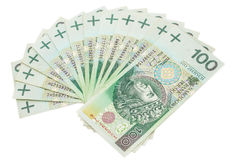 Using money - finances - loan - Poland Royalty Free Stock Image