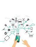 Using phone illustration Stock Image