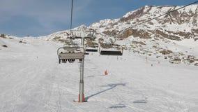 Ski lift ascend stock video