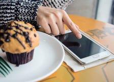 Using smart phone anywhere Royalty Free Stock Photo