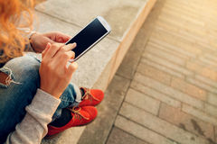 Using smart phone Royalty Free Stock Photography