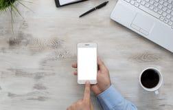 Using smart phone Stock Photos