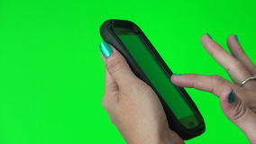 Using a smart phone stock video