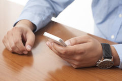 Using a smart phone Royalty Free Stock Image