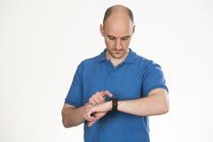 Using smart watch stock photo