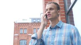 Using Smartphone, Finger Touching Screen. Creative designer , businessman stock video footage