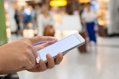 Using smartphone Stock Image