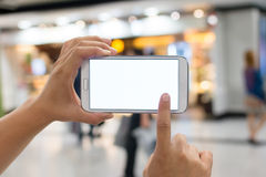 Using smartphone Royalty Free Stock Photo