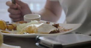 Using the Smartphone during the Meal stock video