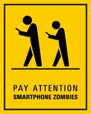 Using smartphone while walking sign vector illustration vector illustration