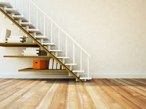 Using a space under the stairs Stock Photos