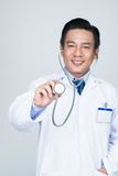 Using stethoscope Royalty Free Stock Images