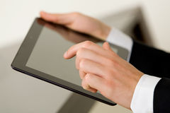 Using Tablet Stock Photography