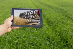 Free Using Tablet On Wheat Field. Modern Agriculture. Wheat Futures C Stock Images - 91686494