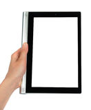 Using The Tablet PC Stock Image