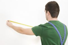 Using tape measure Stock Photo