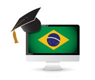 Using technology to learn the portuguese language Royalty Free Stock Image