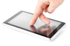 Using touch screen computer Stock Image
