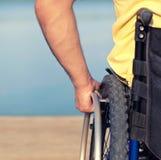 Using wheelchair Stock Photos