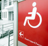 Using wheelchair ramp Royalty Free Stock Photography