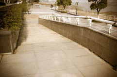 Using wheelchair ramp Stock Photography