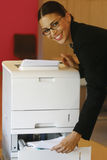 Using Xerox lool Royalty Free Stock Image