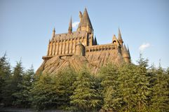 USJ的霍格华兹魔法与巫术学院学校 库存图片
