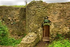 Usk城堡 免版税库存照片