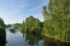 河Usk 库存图片