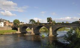 Usk-Brücke, Usk Lizenzfreies Stockbild