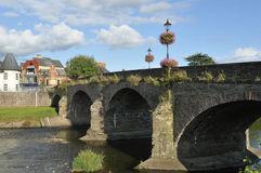 Usk Bridge Royalty Free Stock Image